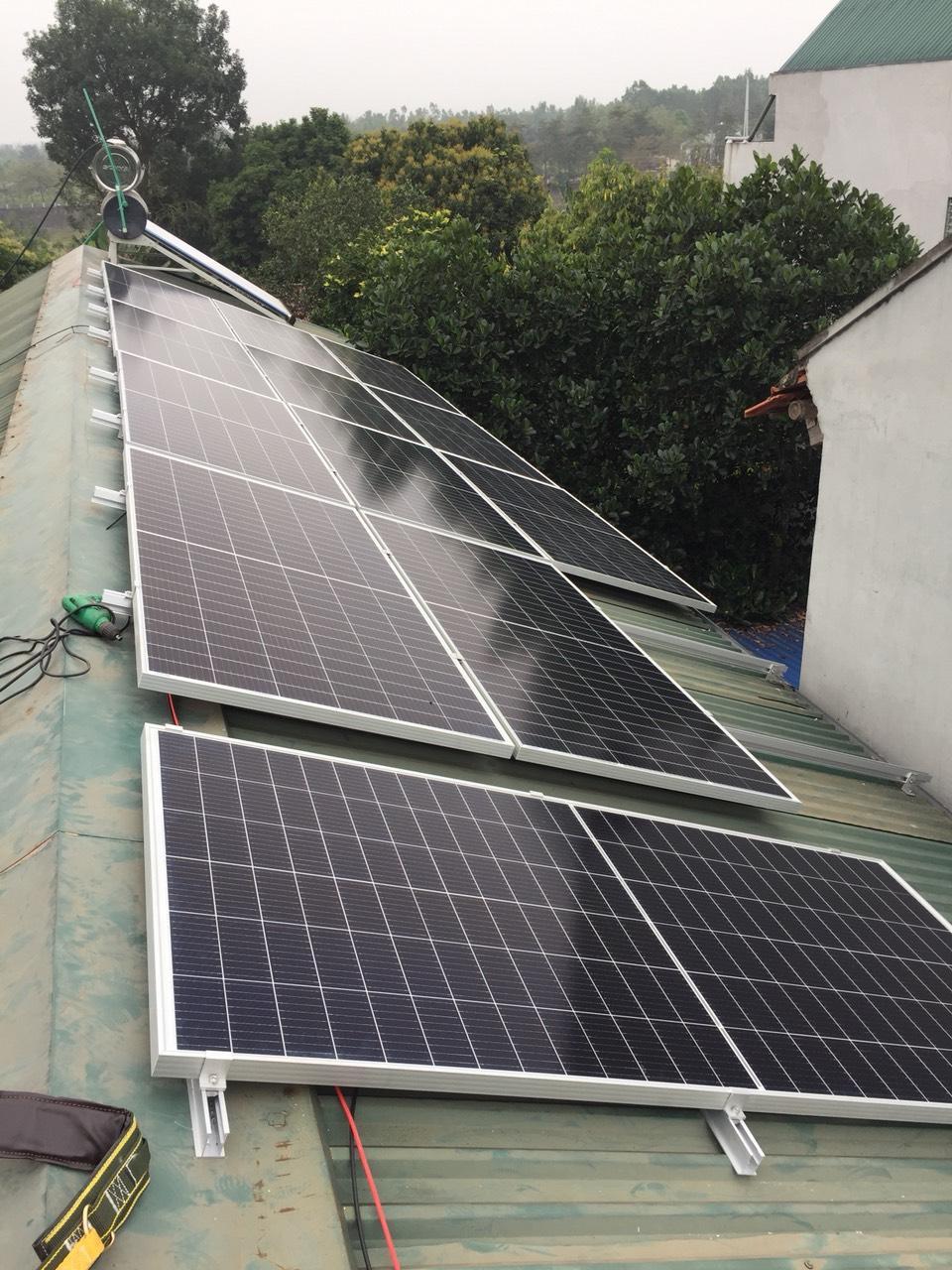 Hệ thống điện mặt trời hòa lưới gia đình 3kWP tại tỉnh Thái Bình