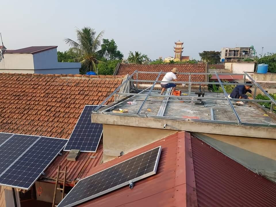 Điện mặt trời hòa lưới nhà hàng, khách sạn C'VIN PALACE 58kwp tại Dân Tiến, Khoái Châu, Hưng Yên
