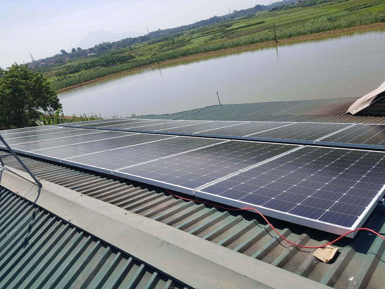 Sử dụng điện mặt trời khi mất điện lưới với hệ Hybrid 4kWp