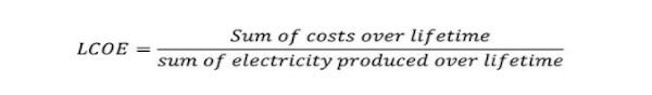 1 cong thuc tinh lcoe - LCOE là gì? Tìm hiểu năng lượng tái tạo và chi phí LCOE